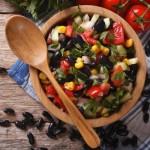Lime black bean salsa